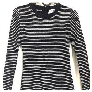 Old Navy | Two-tone Striped Long-sleeve Sweatshirt